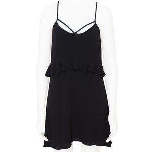 Isla Black Strappy Mini Dress Size M